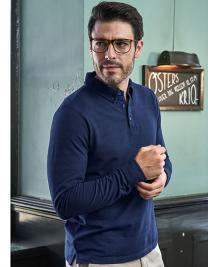 Fashion Long Sleeve Luxury Stretch Polo